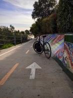 Our hybrid e-bike on the Ballona Creek Bike Path.