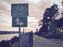 Ballona Creek Bike Path, just about to hit the coast.