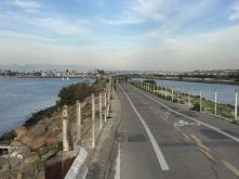 View along the path at Marina Del Ray.